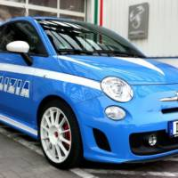 Fiat 500 Abarth Police livery