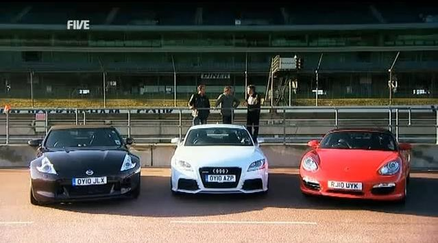 Audi TT RS vs Porsche Boxter S vs Nissan 370Z video