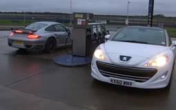 Peugeot RCZ vs Porsche 911 Turbo S video