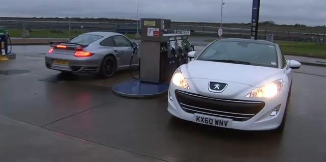 Peugeot RCZ vs Porsche 911 Turbo S video