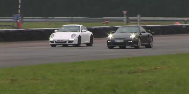 Porsche 911 GT2 RS vs Porsche Carrera video