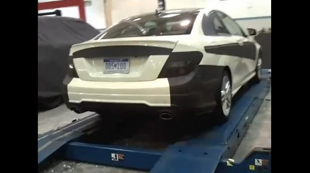 2012 Mercedes C Class Coupe spy video