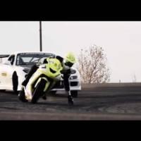 Drift Battle: Corvette Powered RX7 vs Kawasaki ZX10