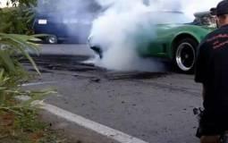 Video: Corvette fails in Burnout Contest