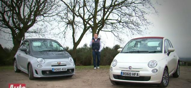 Video: Fiat 500C TwinAir vs 500C Abarth