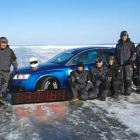 Audi RS6 with Nokian Tyres Beats Bentley World Record On Ice