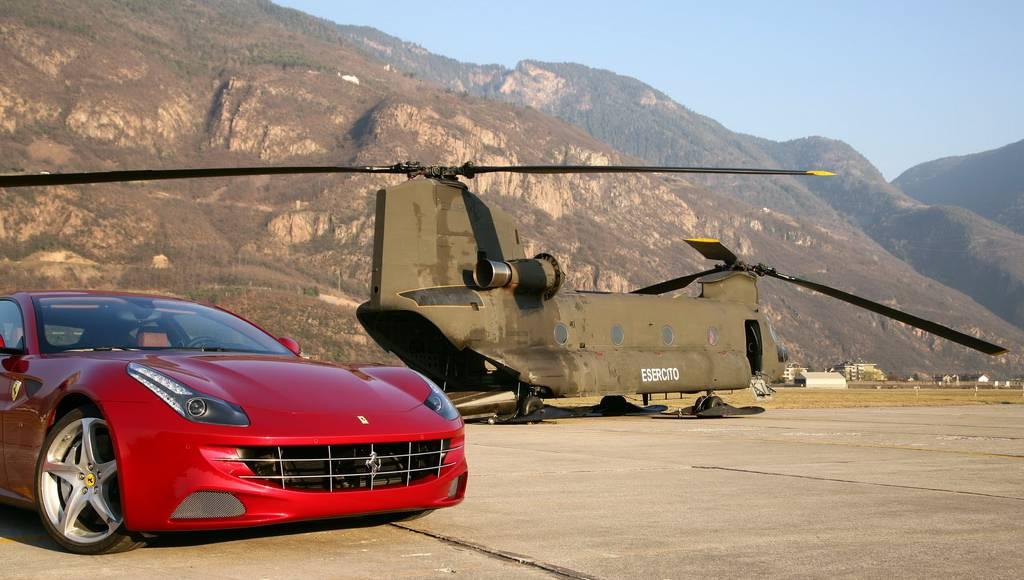 Ferrari FF Helicopter Ride