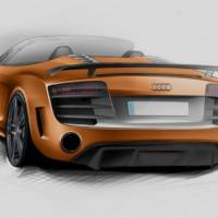 2012 Audi R8 GT Spyder drawings