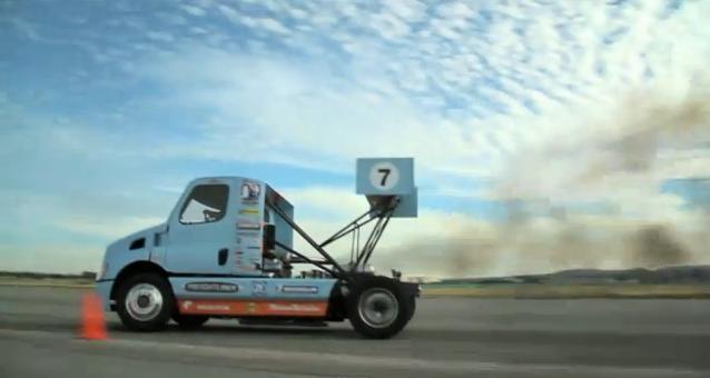 Gymkhana Style Drifting with a Semi Truck