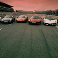 McLaren MP4 12C vs SLS 911 GT2 458 Italia LP570 Performante and R8 V10