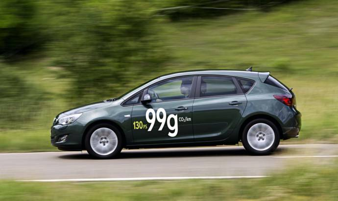 Opel Astra ecoFLEX with 130 HP and 99g of CO2 per Km