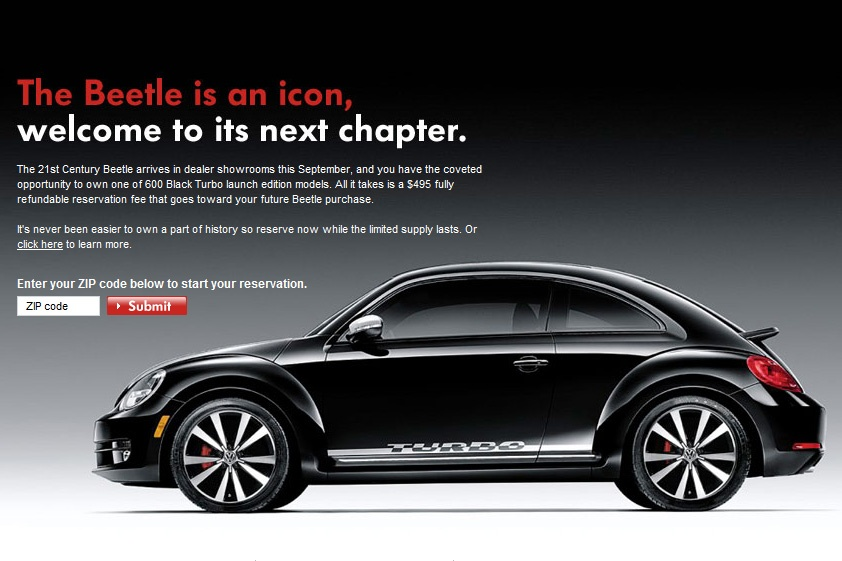 VW Beetle Black Turbo Launch Edition