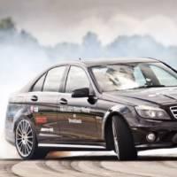 World Record for Longest Car Drift set in Mercedes C63 AMG