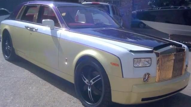 Video: Rolls Royce Phantom gets rainbow exterior and interior