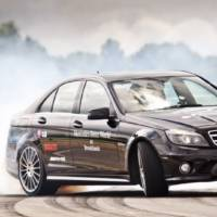 World Record for Longest Car Drift set in Mercedes C63 AMG