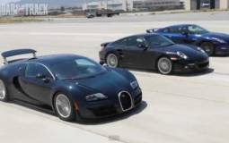 Bugatti Veyron vs Nissan GTR vs Porsche 911 Turbo S Video
