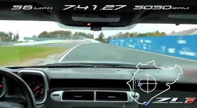 Video: 2012 Chevrolet Camaro ZL1 Nurburgring Lap Time