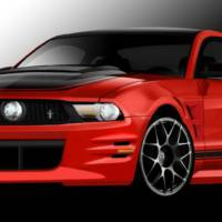 Four 2012 Ford Mustangs at SEMA 2011