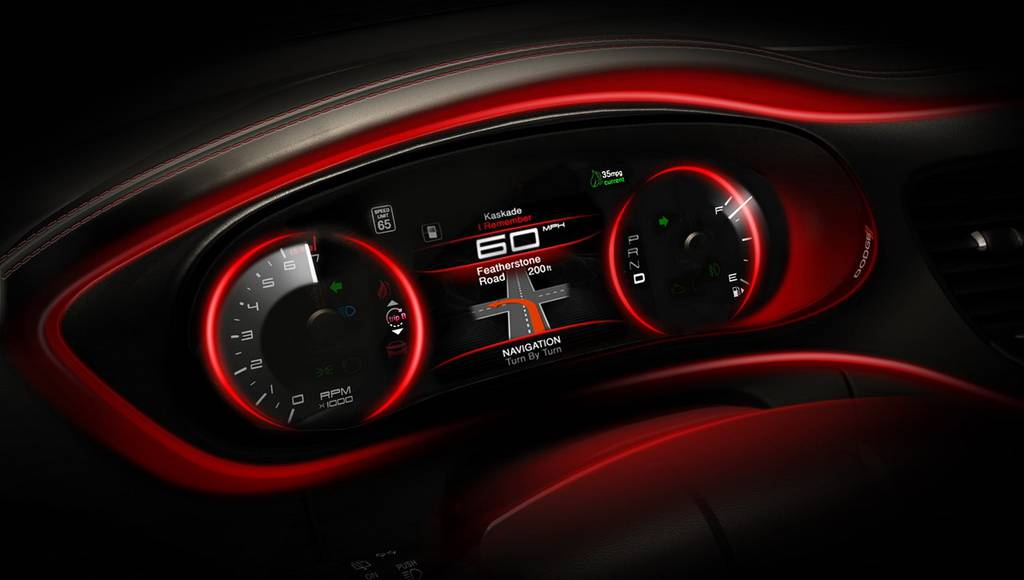 2013 Dodge Dart Interior Teasers