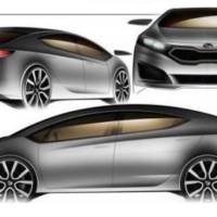 2013 Kia Forte Sketched