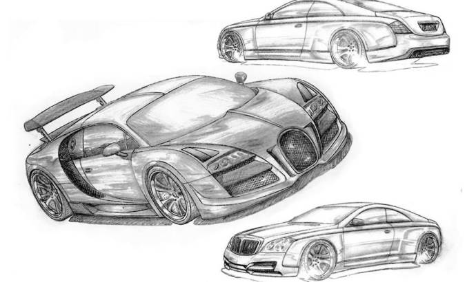 Fab Design Bugatti Veyron Sketch
