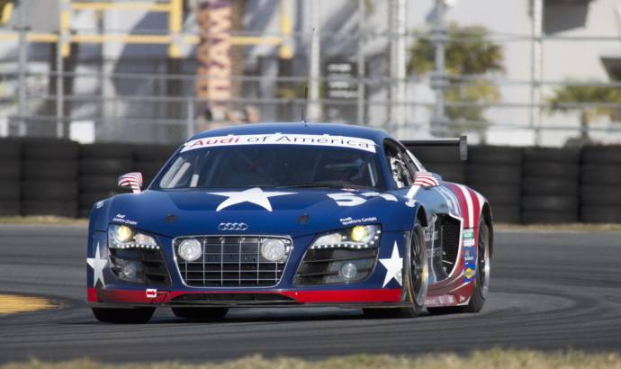 Audi R8 GRAND-AM Daytona Testing Complete