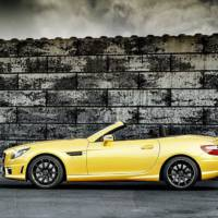 Mercedes SLK 55 AMG and Ducati Streetfighter 848 in Streetfighter Yellow