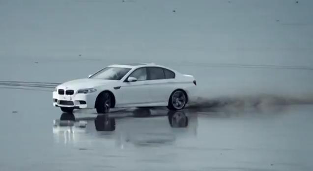 2012 BMW M5 Beach Drifting Video