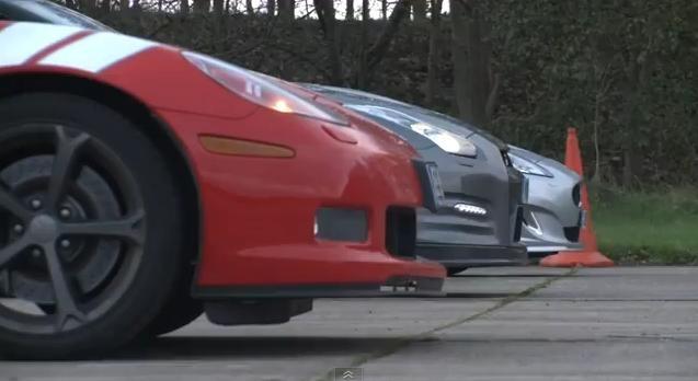 Video: Corvette Grand Sport vs Nissan GT-R vs Jaguar XKR