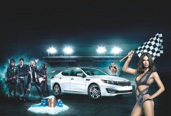 Adriana Lima, Motley Crue and Chuck Liddell in Kia Super Bowl XLVI Ad