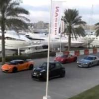 Nissan Juke R vs Lamborghini Gallardo, Ferrari 458 and Mercedes SLS AMG