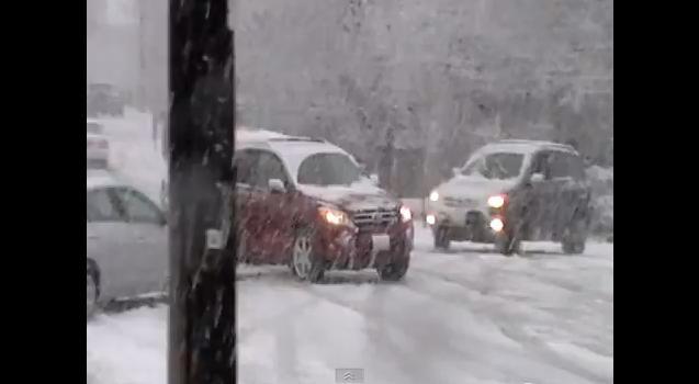 Video: Snow Storm Causing Automotive Carnage