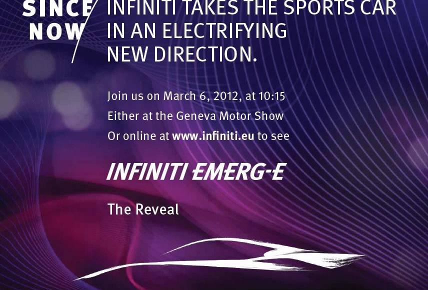 Infiniti Emerg-E Concept Heading to Geneva