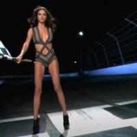 5 Hour Video: Adriana Lima Waving a Checkered Flag