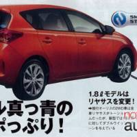 2013 Toyota Auris Leaked Photos
