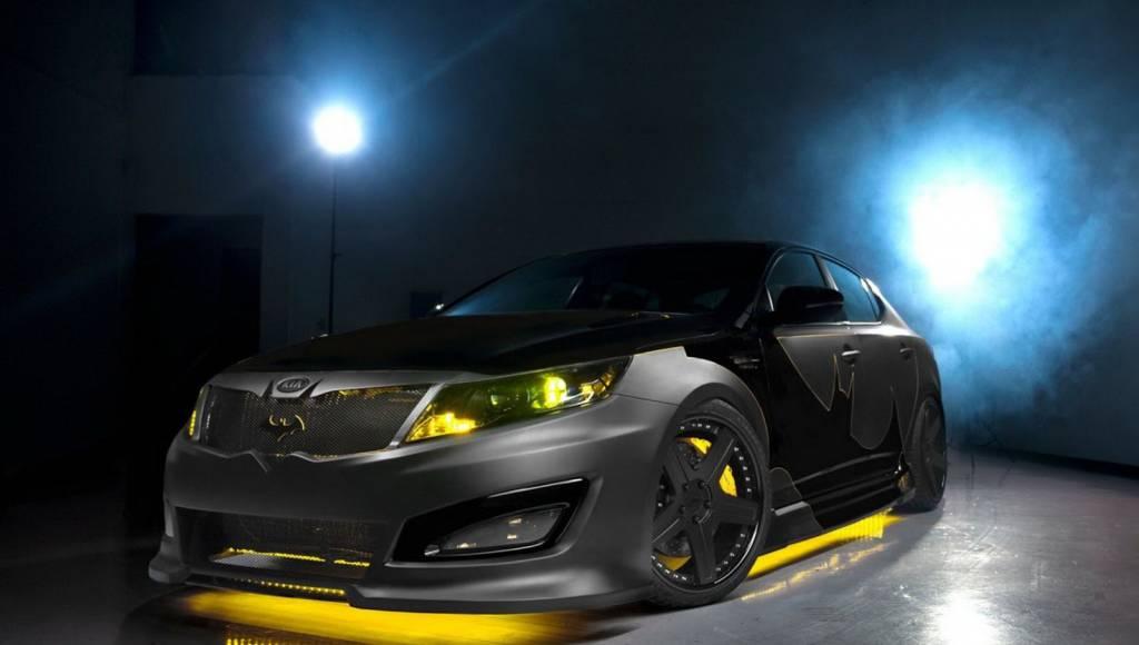 Dark Knight and his Kia Optima Batmobile