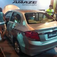 2013 Honda Brio Amaze unveiled in Thailand