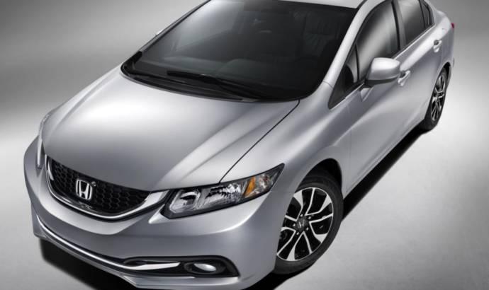 2013 Honda Civic sedan facelift - first images and details