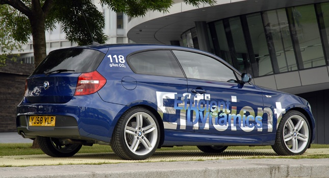 BMW 116d EfficientDynamics achieved 103 mpg (2.7l/100 km) at 2012 RAC Future Car Challenge