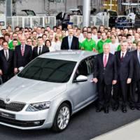 New 2013 Skoda Octavia enters production