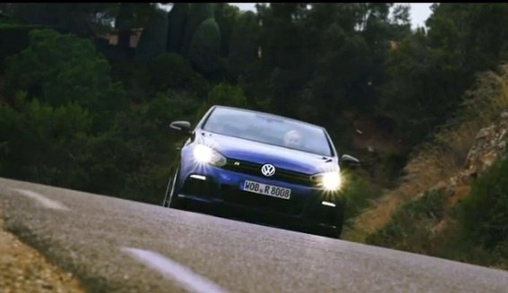 The 2013 Volkswagen Golf R Cabrio - open to the top