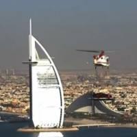 Aston Martin Vanquish on the top of Dubai