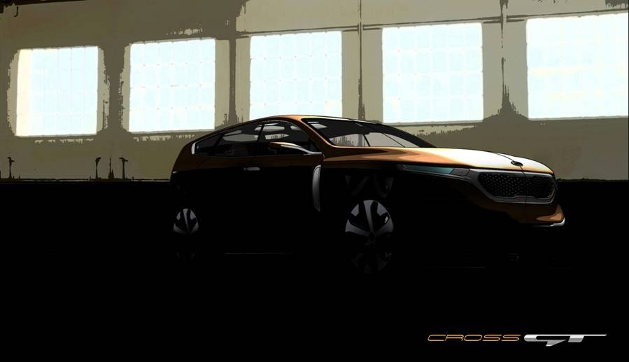 First photo teaser of the Kia Cross GT Concept