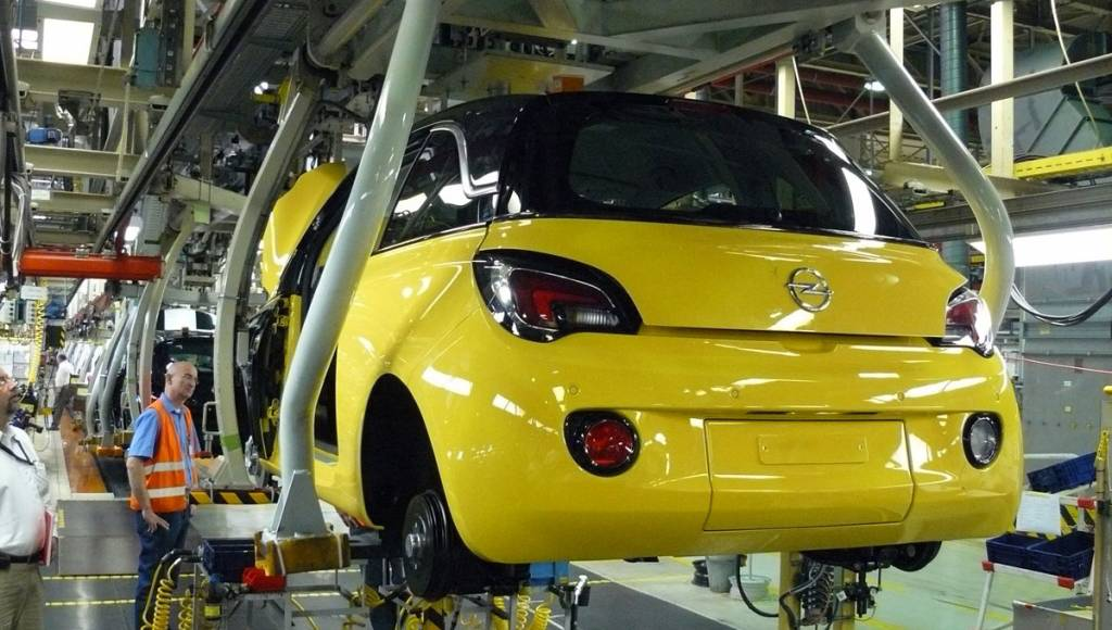 2013 Opel Adam starts production in Eisenach, Germany