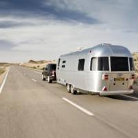 2013 Range Rover towed an Airstream trailer from England to Morocco and back