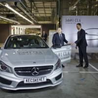 2013 Mercedes CLA enters production