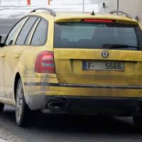 Spy photos: Skoda Octavia Combi vRS