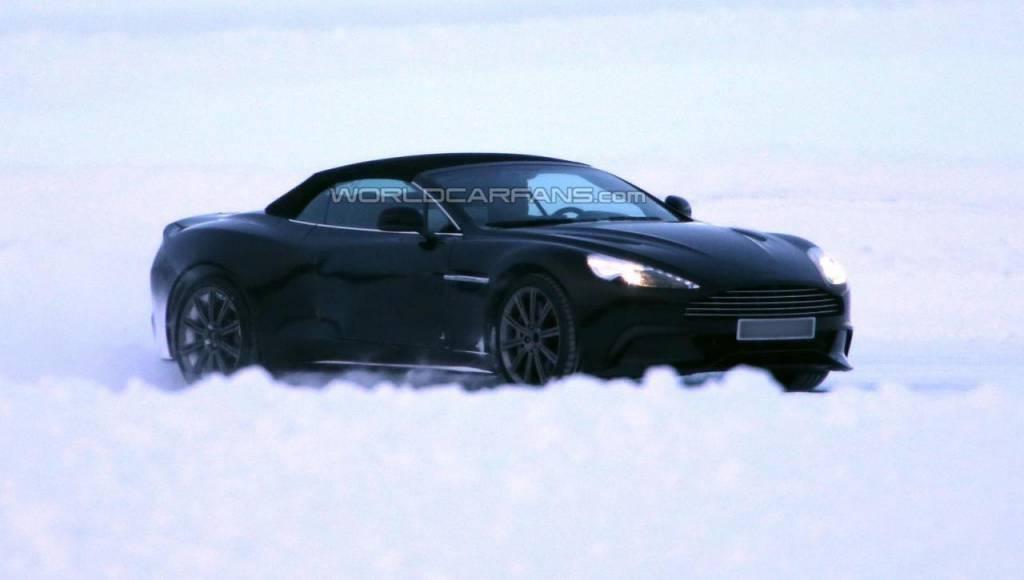 2013 Aston Martin Vanquish Volante - first spy photos
