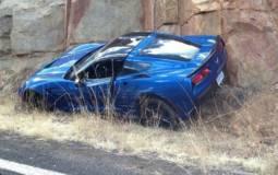 First Chevrolet Corvette Stingray crash