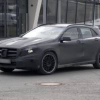 2014 Mercedes-Benz GLA 45 AMG spied near Nurburgring